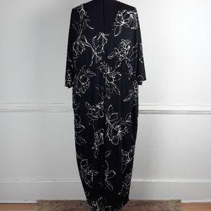 R & K PLUS SIZE FLORAL PRINT MAXI DRESS SIZE 5X